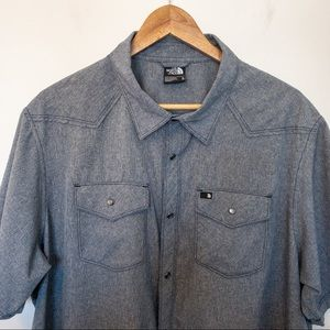 The North Face Men Size XL Shirt Pearl Snap